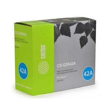 Cactus CS-Q5942A совместимый лазерный картридж 42A Black | Q5942A - черный, 10000 стр