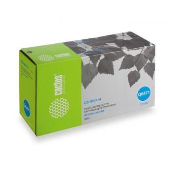 Cactus CS-Q6471A совместимый лазерный картридж 502A Cyan | Q6471A - голубой, 4000 стр
