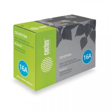 Cactus CS-Q7516A совместимый картридж аналог HP Q7516A чёрный, ресурс - 12000 страниц