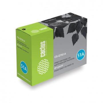 Cactus CS-Q7551A совместимый картридж Q7551A чёрный, ресурс - 6500 страниц