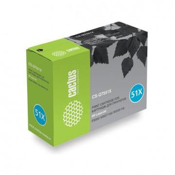 Cactus CS-Q7551XS совместимый картридж Q7551X чёрный, ресурс - 13000 страниц