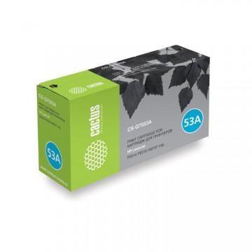 Cactus CS-Q7553AS совместимый картридж Q7553A чёрный, ресурс - 3000 страниц