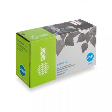 Cactus CS-Q7581A совместимый лазерный картридж 503A Cyan | Q7581A - голубой, 6000 стр