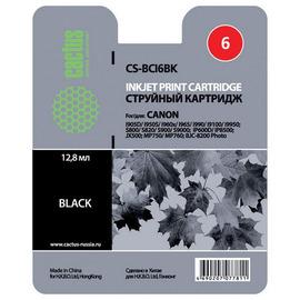 Cactus CS-BCI6BK cтруйный картридж аналог Canon BCI-6BK черный