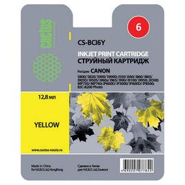 Cactus CS-BCI6Y cтруйный картридж аналог Canon BCI-6Y желтый