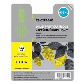 Cactus CS-C2P26AE №935XL струйный картридж аналог HP C2P26AE желтый