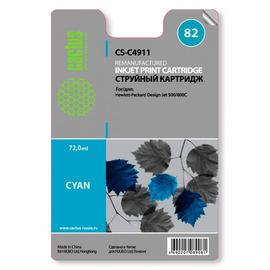 82 Cyan   C4911AE (Cactus) струйный картридж - 72 мл, голубой