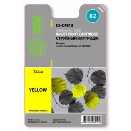 82 Yellow   C4913AE (Cactus) струйный картридж - 72 мл, желтый