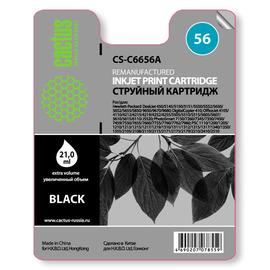 56 Black | C6656AE (Cactus) струйный картридж - 20 мл, черный