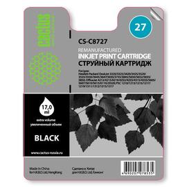 27 Black   C8727AE (Cactus) струйный картридж - 20 мл, черный