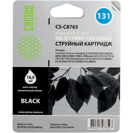 131 Black | C8765HE (Cactus) струйный картридж - 17 мл, черный