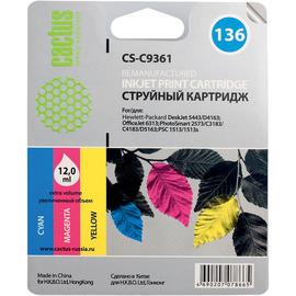 132 Black | C9362HE (Cactus) струйный картридж - 7 мл, черный