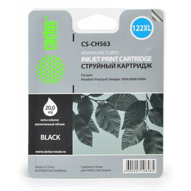 CS-CH563 струйный картридж Cactus 122 XL Black | CH563HE, 18 мл, черный