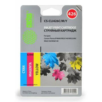 CS-CLI426C/M/Y струйный картридж Cactus CLI-426 Multipack   4557B006, 8.2 мл, набор цветной