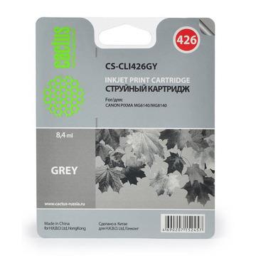CS-CLI426GY струйный картридж Cactus CLI-426GY | 4560B001, 8.2 мл, серый