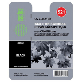 CLI-521Bk | 2933B004 (Cactus) струйный картридж - 8,2 мл, черный