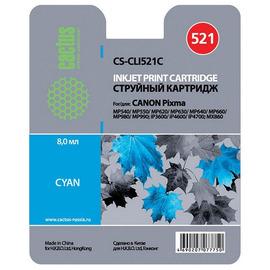 CLI-521C | 2934B004 (Cactus) струйный картридж - 446 стр, голубой