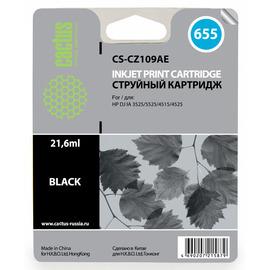 CS-CZ109AE струйный картридж Cactus 655 Black | CZ109AE, 21.6 мл, черный