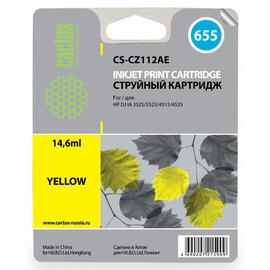 CS-CZ112AE струйный картридж Cactus 655 Yellow | CZ112AE, 14.6 мл, желтый