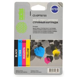 T0735 Color | C13T10554A10 (Cactus) струйный картридж - 250 стр, набор цветной + черный