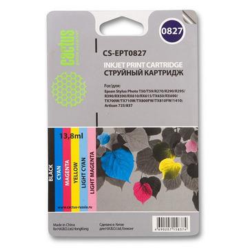CS-EPT0827 струйный картридж Cactus T0817 Multipack | C13T11174A10, 480 стр., набор цветной + черный