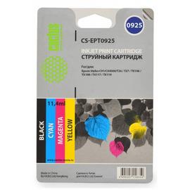 Cactus CS-EPT0925 совместимый струйный картридж аналог Epson C13T10854A10 комплект 4 цветный ресурс 250 страниц