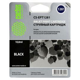 Cactus CS-EPT1281 совместимый струйный картридж аналог Epson C13T12814011 черный ресурс 10 мл.