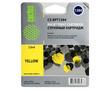 Cactus CS-EPT1284 совместимый струйный картридж аналог Epson C13T12844011 желтый ресурс 7 мл.