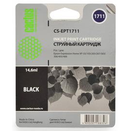 Cactus CS-EPT1711 совместимый струйный картридж аналог Epson C13T17114A10 черный ресурс 14.6 мл.