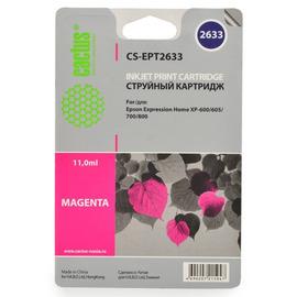 Cactus CS-EPT2633 совместимый струйный картридж аналог Epson C13T26334010 пурпурный ресурс 11 мл.