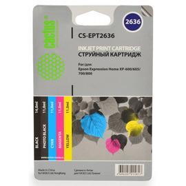 CS-EPT2636 струйный картридж Cactus 26XL Multipack | C13T26364010, 700 стр., набор цветной + черный