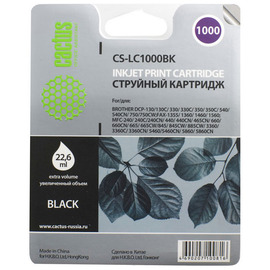 Cactus CS-LC1000BK струйный картридж аналог Brother LC1000BK черный