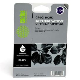Cactus CS-LC1100BK струйный картридж аналог Brother LC1100BK черный