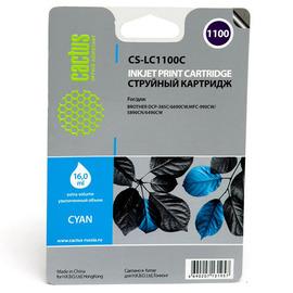 Cactus CS-LC1100C струйный картридж аналог Brother LC1100C голубой