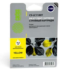Cactus CS-LC1100Y струйный картридж аналог Brother LC1100Y желтый