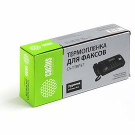 Cactus CS-TTRP57 совместимая факсовая плёнка аналог Panasonic KX-FA57A7 черный ресурс 140 метров