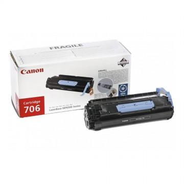 Canon 706 оригинальный лазерный картридж Canon черный, ресурс печати - 5000 страниц