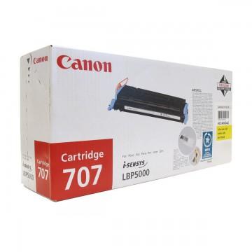 Canon 707Bk оригинальный лазерный картридж Canon черный, ресурс печати - 2500 страниц
