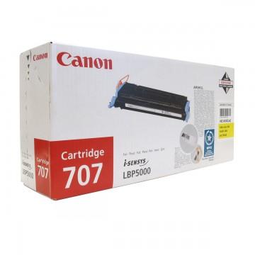 Canon 707Y оригинальный лазерный картридж Canon жёлтый, ресурс печати - 2000 страниц
