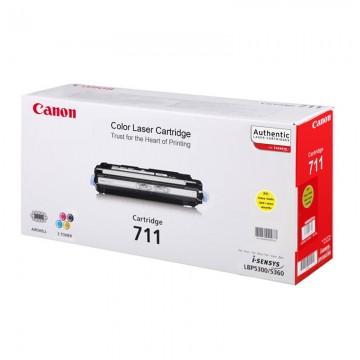 Canon 711Y оригинальный лазерный картридж Canon жёлтый, ресурс печати - 6000 страниц