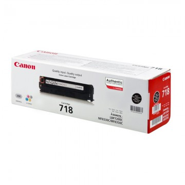 Canon 718Bk оригинальный лазерный картридж Canon черный, ресурс печати - 3400 страниц