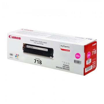 Canon 718M оригинальный лазерный картридж Canon пурпурный, ресурс печати - 2900 страниц