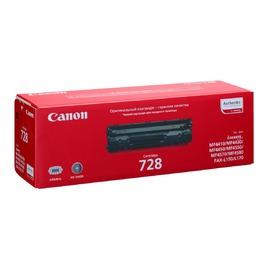 Canon 728 оригинальный лазерный картридж Canon черный, ресурс печати - 2000 страниц