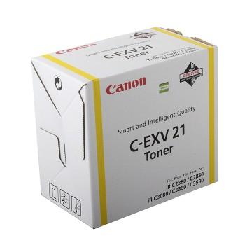 C-EXV21Y оригинальный лазерный тонер картридж Canon жёлтый, ресурс печати - 1400 страниц