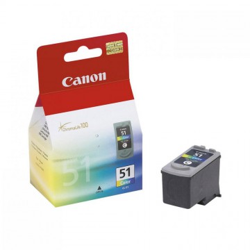 CL 51 оригинальный струйный картридж Canon цветной, ресурс печати - 545 страниц