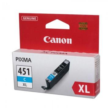 CLI 451XLC оригинальный струйный картридж Canon голубой-увеличенный, ресурс печати - 680 страниц