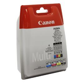 Уценка! CLI-471 Multipack | 0401C004 (оригинальный картридж Canon) струйный картридж - 370 стр, набор цветной + черный