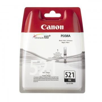 CLI 521Bk оригинальный струйный картридж Canon черный, ресурс печати - 535 страниц