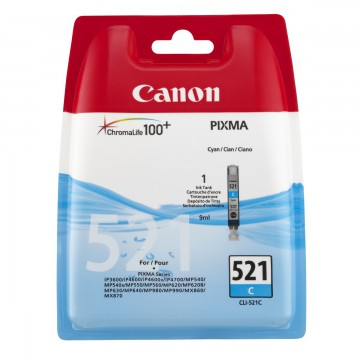 Canon CLI-521C | 2934B004 оригинальный струйный картридж - голубой, 535 стр