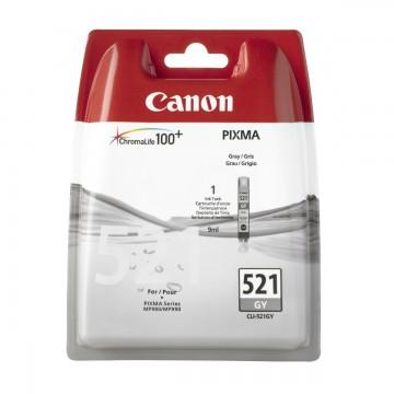 CLI 521Gy оригинальный струйный картридж Canon серый, ресурс печати - 535 страниц